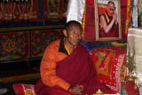 monk in Beding Gompa