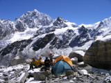 high camp Yalung Ri used by japanese climber