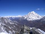 Gauri Shankar and far away Annapurna range
