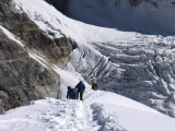our english guides climbing last meters to summit