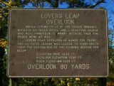 Lovers Leap Overlook sign