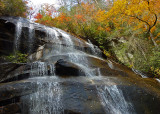 A WATERFALL IN WESTERN NORTH CAROLINA'S PISGAH NATIONAL FOREST