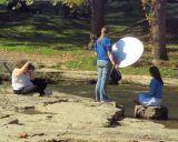 Photograhping in Falls Park, Pendleton, Indiana