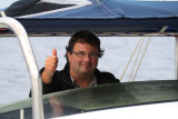 Jordi Marti Aledo from the Spansih Rarity Comitee driving the boat.