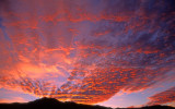 Altocumulus sunset, Mingus Mountain, Cottonwood, AZ