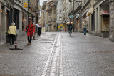 Pedestrians on Rue du Lausanne