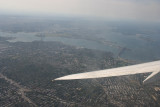 Flying above LaGuardia Airport
