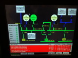 Electrical Service Mimic Panel on ER computer
