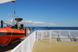 Out on sea trials