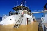 Outsdie passenger deck area, interior is crew areas