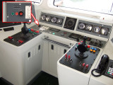 Bridge console, emergency drop buttom for the anchor