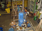 Combined fire and bilge pump being fitted out