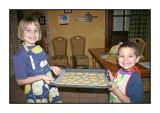 Baking cookies, January 2005