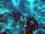 les dues Laies, J&B sortint de Bellz, com una xemeneia que dóna al reef