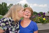 Sisters Kathy and Barbara