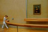 Mona Lisa solo visitor