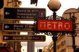 art nouveau metro stop in Paris