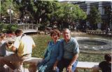 IDA & LEONARD AT FOUNTAIN IN L.A.