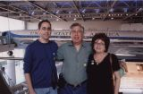 PAUL, LEONARD & IDA W/PRES. REAGAN'S AIR FORCE 1