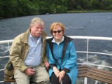 Inverness, Scotland, Saturday, June 21, 2008: Loch Ness. Rushing and his dear Frances searching for the monster