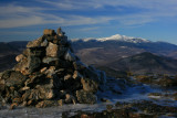 Cairn on North Moat Mountain in Winter