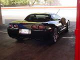 clean black Corvette