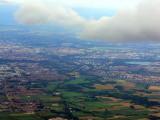 La plaine d'Alsace vue du ciel.