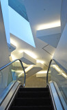 Escalator to Unique Architecture in Ian Potter Center