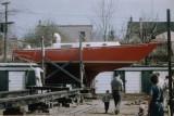 LA MOUETTE, 1961, C&C, 37' custom wood, built at Metro Marine in Bronte west of Toronto, Ontario, Canada