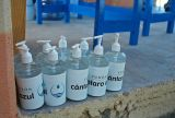 Hand Sanitizer bottles for distribution to UV Tube users