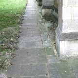 Path, made of old gravestones