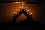 Adventsljusstake med glödlampor
