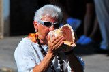 blowing the conch