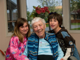 Great Grandma with McKenzie and Dario