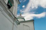 Russia, Pskov region, church inside Izborsk stronghold