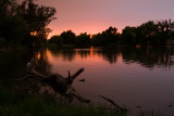 Sunset at Spring Valley Pond