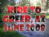 Ride to Greer, AZ, June 11-13, 2008