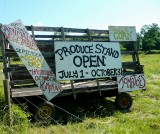 produce stand to come at the english farm