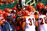 Cincinnati Bengals team huddle