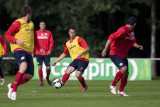 Nordin Amrabat passes the ball
