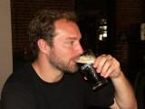 Dan having a brew downtown