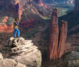Photographing Spider Rock, Canyon de Chelly