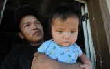 Father and Child Near Tsaile, Arizona