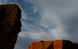 Ruins and Canyon Wall, Chaco