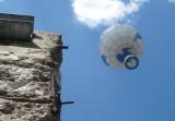 Hot Air Balloon Above the Berlin Wall
