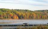 Fall colors across the lake