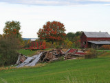 Destroyed farm building