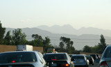 Stuck on the 101 with the Angeles National Forest in front