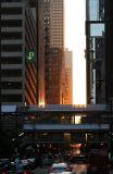 Sunset at Adams Street