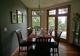 dining room with access to rear deck